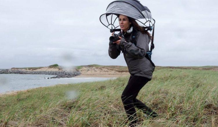 Nubrella hands free umbrella rain protection
